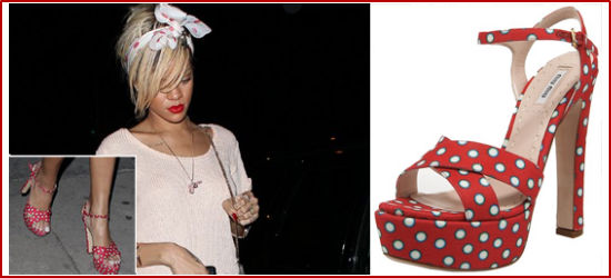 red shoes rihanna